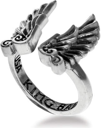 King Baby Studio Women's Eagle Wing Cuff Ring in Sterling Silver