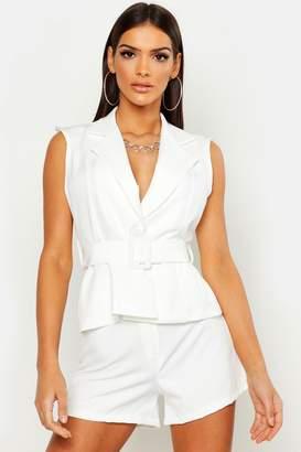 f78b7a57f170 White Belted Blazer - ShopStyle UK