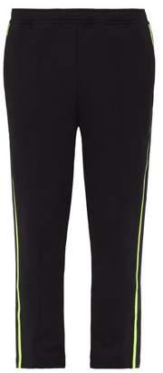 Prada Side Stripe Mid Rise Cotton Track Pants - Mens - Black Multi