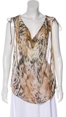 Haute Hippie Silk Printed Sleeveless Top