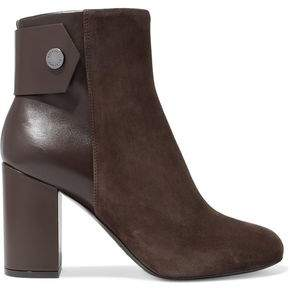 Belstaff Leather And Suede Ankle Boots