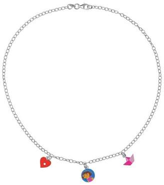 Dora the Explorer 3170975 Children's Pendant Necklace with Heart/Boat/Artist Design: 925/1.000 Silver, 4.3 g, 40 cm