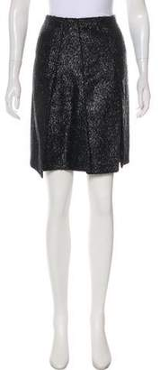 Prada Metallic A-Line Skirt