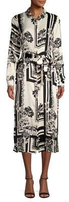 Vero Moda Printed Long-Sleeve Chiffon Dress