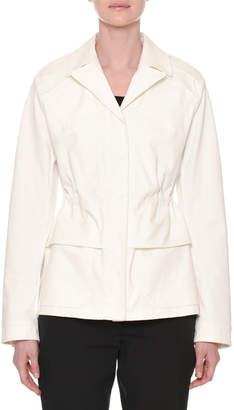 Tomas Maier Notched-Collar Button-Down Peplum Jacket