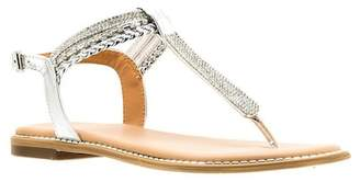 Good Choice New York Lia Embellished T-Strap Flat Sandal