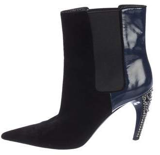 Louis Vuitton Crystal Embellished Ankle Boots