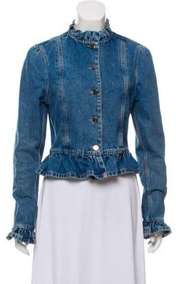 J.W.Anderson Ruffle-Accented Denim Jacket
