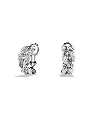 David Yurman Belmont Curb Link Earrings with Diamonds