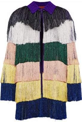 Missoni Fringed Metallic Crochet-Knit Jacket