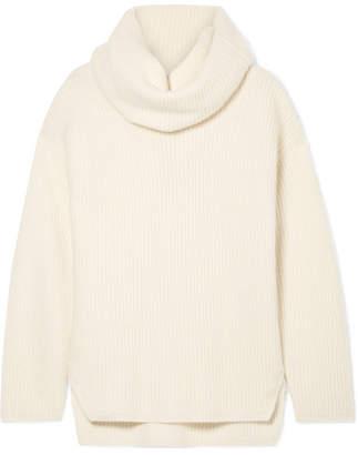Joseph Ribbed Cashmere Turtleneck Sweater - Ecru