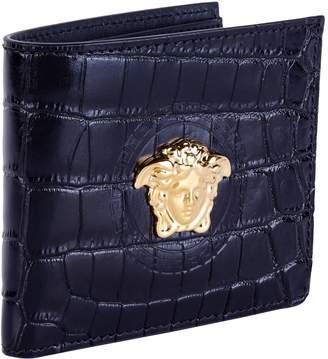Versace Leather Baroque Medusa Wallet