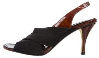 Donald J Pliner Canvas Slingback Sandals