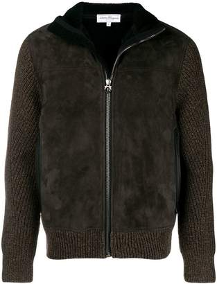 Salvatore Ferragamo knitted zipped jacket