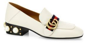 Gucci Peyton Leather Loafers $1,100 thestylecure.com