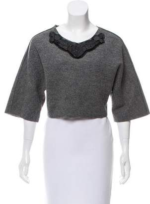 Pinko Wool Embellished Top