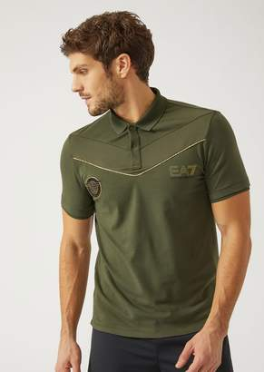 Emporio Armani Ea7 Polo Shirt In Stretch Cotton Jersey