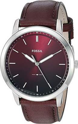 Fossil Men's 'The Minimalist 3H' Quartz Stainless Steel and Leather Casual Watch