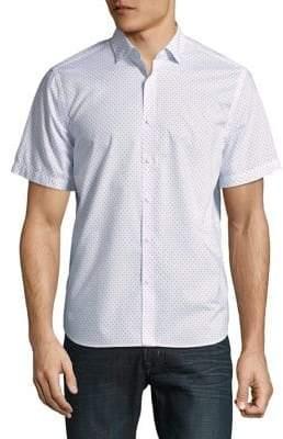 Black & Brown Black Brown Printed Short-Sleeve Shirt