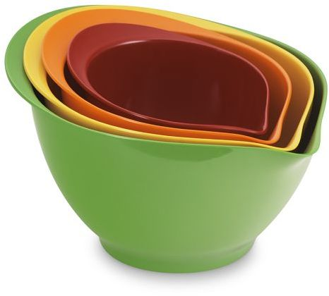 Melamine Mixing Bowls, Multicolored, Set of 4