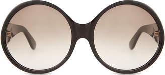 Saint Laurent Sl57 round-frame sunglasses, Tortoise brown
