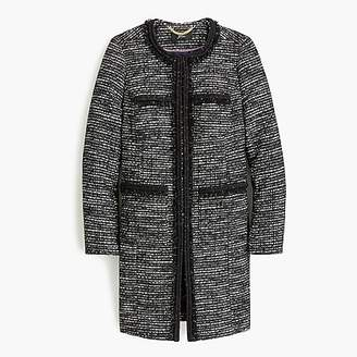 J.Crew Tweed Lurex® lady coat with braided trim
