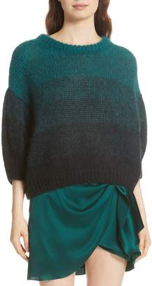 Caroline Constas Ombre Wool Blend Sweater
