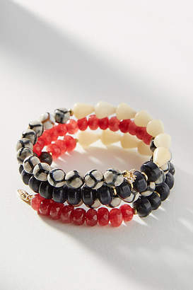 Anthropologie Beaded Coil Bracelet