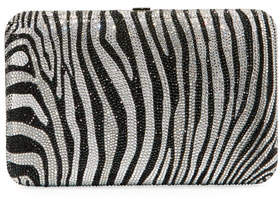 Judith Leiber Couture Seamless Zebra Crystal Clutch Bag