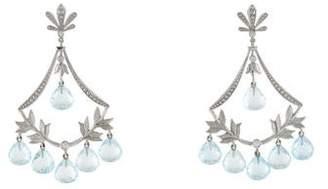 Jamie Wolf 18K Aquamarine & Diamond Chandelier Earrings