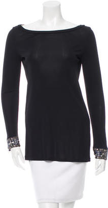 Emilio Pucci Embellished Scoop Neck Tunic $145 thestylecure.com