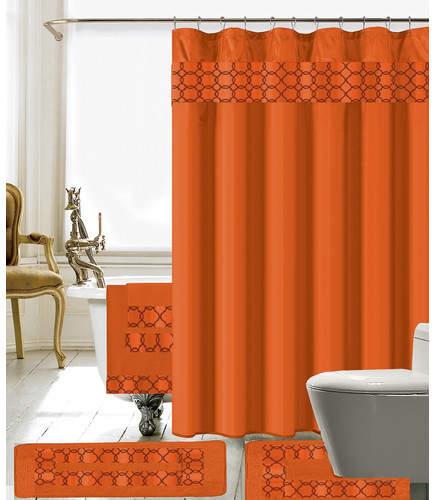 Willa Arlo Interiors Austyn 18 Piece Embroidery Shower Curtain Set