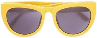 Cat Eye Smoke X Mirrors thick rim sunglasses