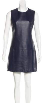 Neil Barrett Leather Colorblock Dress w/ Tags