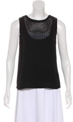 A.L.C. Eyelet-Trimmed Sleeveless Top