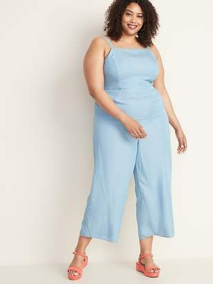 Old Navy Chambray Square-Neck Plus-Size Cami Jumpsuit