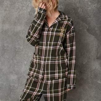 River Island Green Ashish check pajama shirt