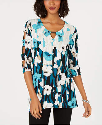 JM Collection Embellished Cutout Keyhole Top, Created for Macy's