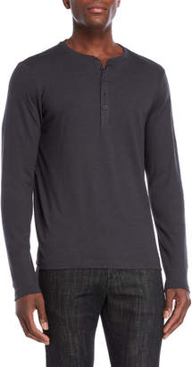 Ike Behar Grey Long Sleeve Henley