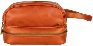 Buffalo David Bitton Mahi Leather Leather Raleigh Toiletry Bag In Tan