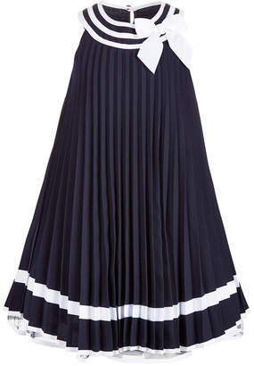 Bonnie Jean Little Girls Striped Pleated Dress