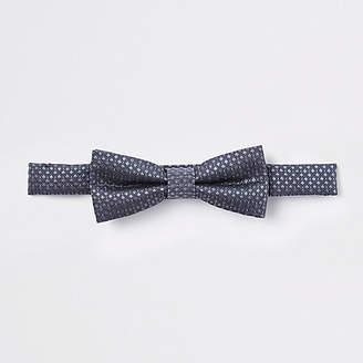 River Island Boys dark Grey jacquard bow tie