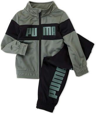 Puma Newborn Boys) Two-Piece Logo Track Jacket & Jogger Pants Set