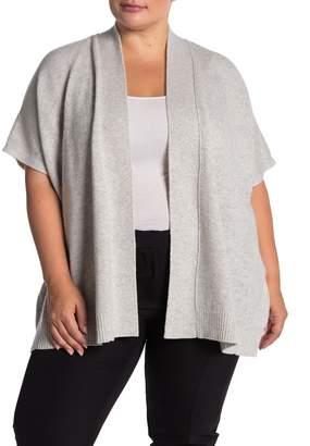 Lafayette 148 New York Vanise Cashmere Short Sleeve Cardigan (Plus Size)