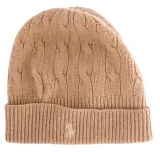 Ralph Lauren Wool Rib-Knit Beanie Tan Wool Rib-Knit Beanie