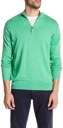 Peter Millar Regular Fit Quarter Zip Sweater $145 thestylecure.com