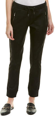 The Kooples The Leather Effect Active Sweatpant