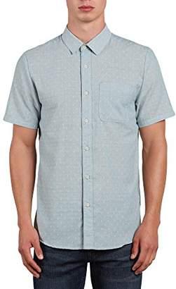 Volcom Men's Dobler Short Sleeve Button up Solid Shirt