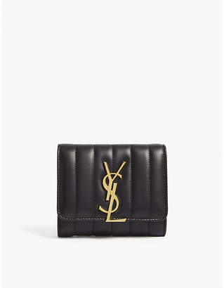 Saint Laurent Vicky quilted leather wallet