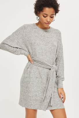 Topshop PETITE Belted Sweater Dress